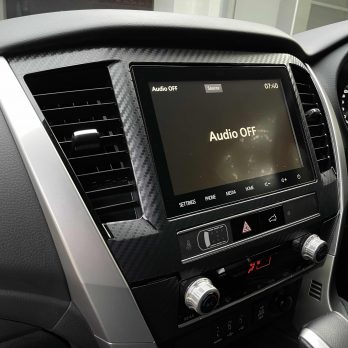 QF 2020-2021 Pajero Sport Radio Surround Decal Sticker Protection